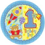 Plates-Bev-Hugs and Stitches Boy-8pk-Paper