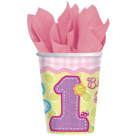 Cups-Hugs And Stitches Girl-Paper-9oz-8pk - Discontinued/Final Sale