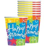 Cups-Happy Retirement-Paper-9oz-8pk- Discontinued