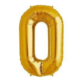 "Foil Balloon -Gold - 0 - 34"""