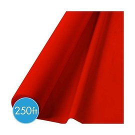 Tablecover Roll-Apple Red-250Ft-Plastic