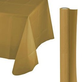 Tablecover Roll-Gold-100Ft-Plastic