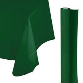 Tablecover Roll-Forest Green-100Ft-Plastic