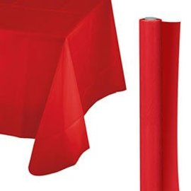 Tablecover Roll-Apple Red-100Ft-Plastic