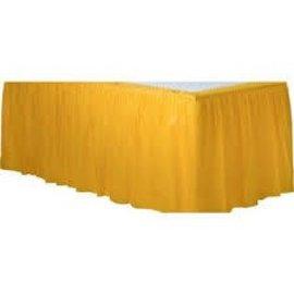 Table Skirt-Rectangular-Yellow Sunshine-Plastic- Final Sale