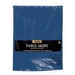 Table Skirt-Rectangular-Navy Flag Blue-Plastic