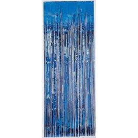 Metallic Curtain- Blue-8' x 3'
