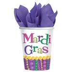 Cups- Mardi Gras-Paper-9oz-8pk - Discontinued/Final Sale