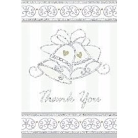 Thank You Cards-Dazzling bells-8pk