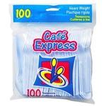 Plastic Spoons-White-100pkg