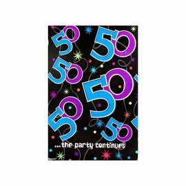 Table Cover-50th Bday-Plastic-54'' x 102'' - Discontinued