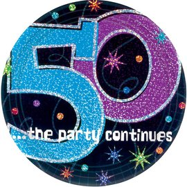 Beverage Plates-The Party Continues-50th B-Day-Discontinued