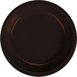 Plates-BEV-Chocolate Brown-20pk-Plastic- Discontinued