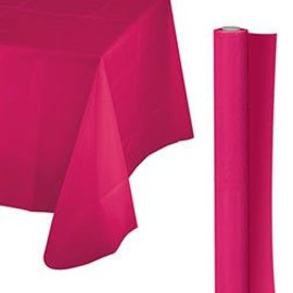 Tablecover Roll-Bright Pink-100Ft-Plastic