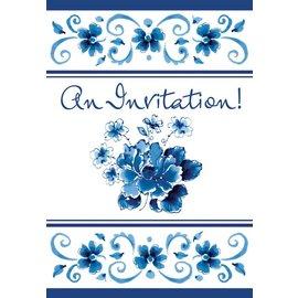 Invitations-Blue Provence Folded-8pk