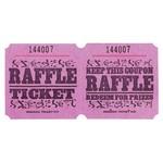 Ticket Roll-Raffle-Double-1000 ticket (Pink)