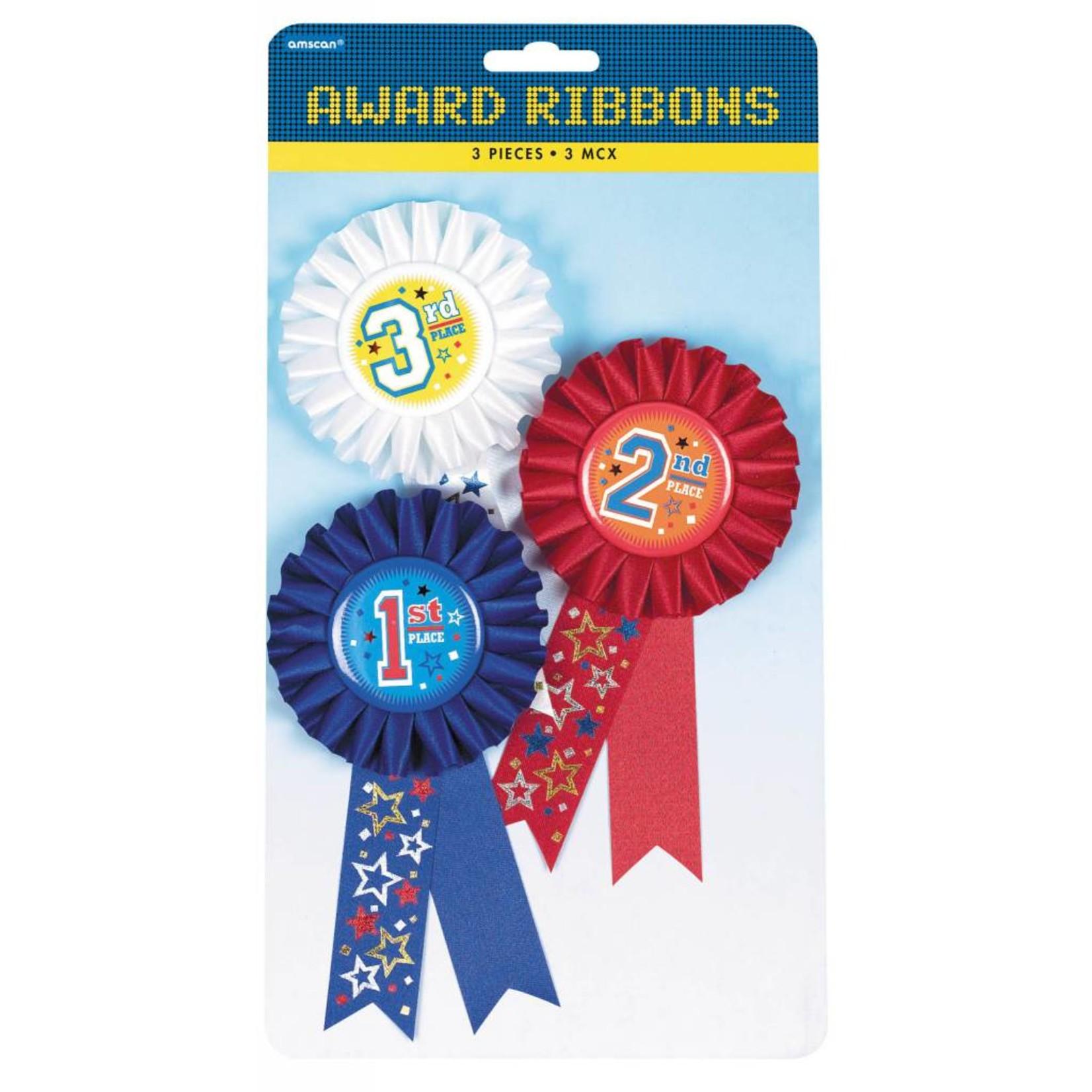 Award Ribbons-Rank-3pk/6''