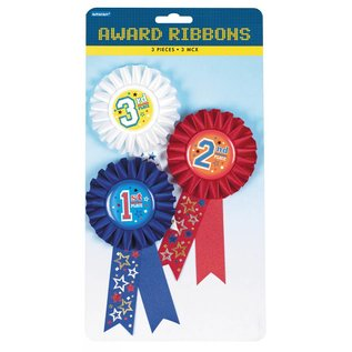 Award Ribbons-Rank-3pk/6''