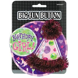 Big Fun Button - Birthday Girl-4''