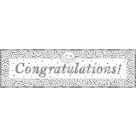 Giant Sign Banner- Wedding Metallic-65'' x 20''