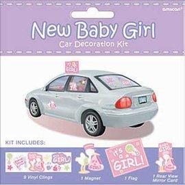 Car Decor Kit-New Baby Girl-12pk