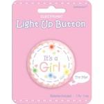 Award Button Light up-Its A Girl-2''