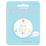 Award Button Light up-Its A Boy-2''