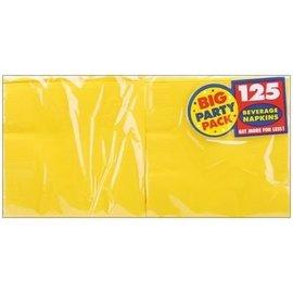 Napkins-BEV-Yellow Sun-Value/125pk