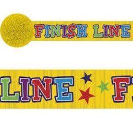 Paper Crepe Streamers- Finish Line- 42ftx1.875""