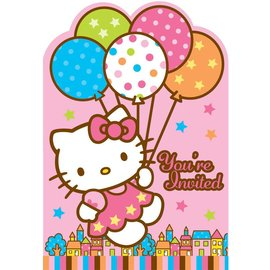 Invitations-Hello Kitty-8pk