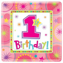 Plates-DN-Onederful 1st Bday Girl- Discontinued