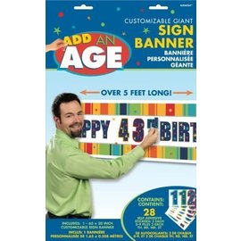 Banner-Giant-A Year to Celebrate-Add An Age-Multi Color-5ft