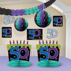 Room Decor Kit-50th Birthday-10pk