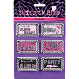 Button Set-Bachelorette Bling-6pk