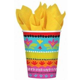 Cups-Mexican Fiesta-Paper-9oz-8pk