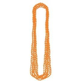 Beads Necklaces-Metallic-Orange-8pk/30''
