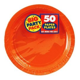 Plates-LN-Orange-Value/50pk-Paper