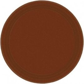 Plates-BEV-Chocolate Brown-Value/60pk-Paper