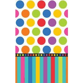 Table Cover-Birthday Dots and Stripe-Paper-137 x 259cm- Discontinued