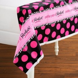 Table Cover-Another Year of Fabulous-Plastic-54'' x 102'' - Discontinued
