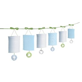 Lantern Garlands-Christening Blue-12ft