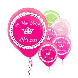 Balloons-Latex-A new little Princess-20pk