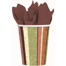Cups-Decor stiripe-Paper-9oz-8pk (Discontinued)