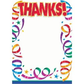 Thank you Cards-Party Streamer-8pk