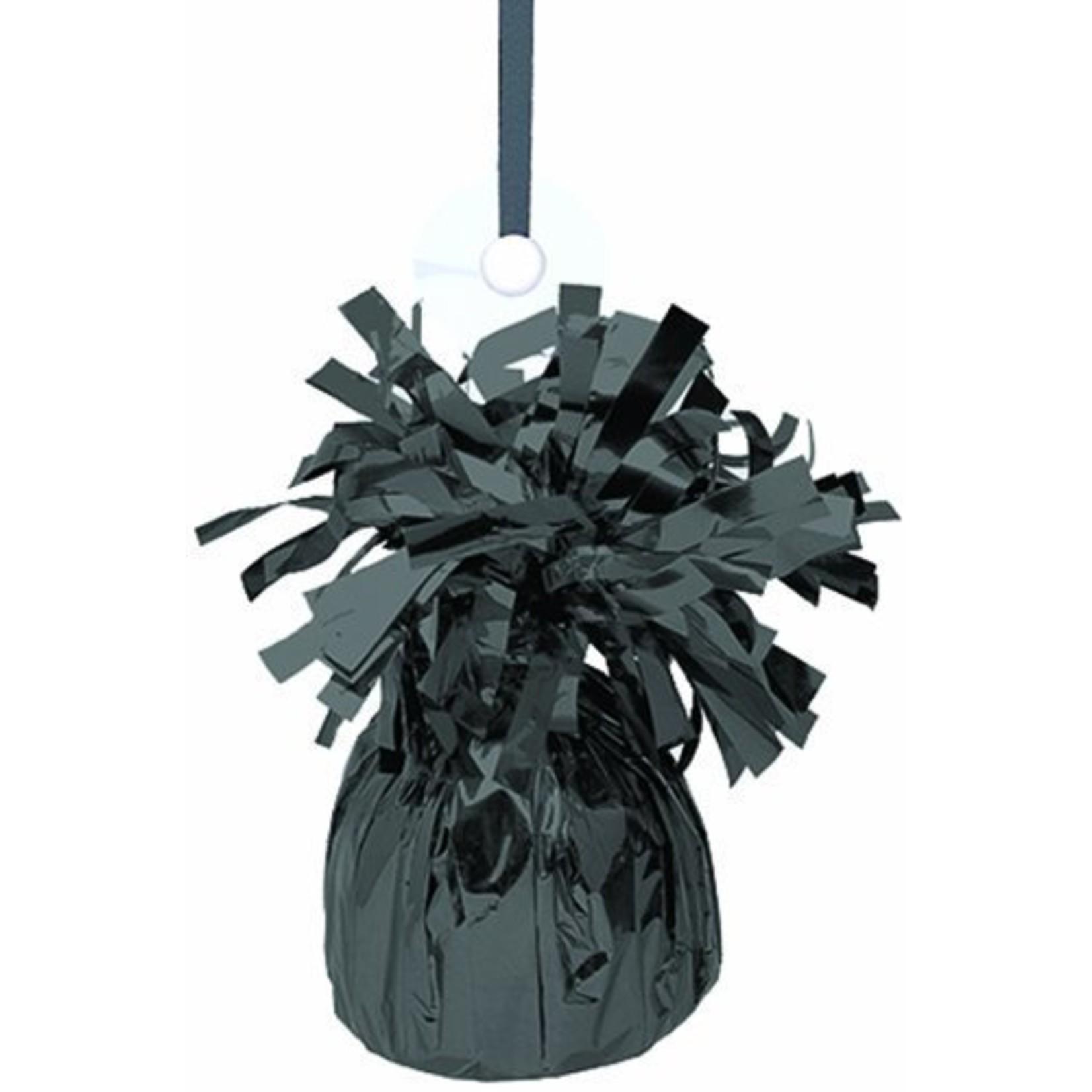 """Balloon Weight-Foil-Black-1pkg-4.5""""x2.25"""""""