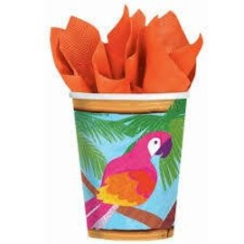 Cups-Luau Party-Paper-9oz-8pk - Discontinued