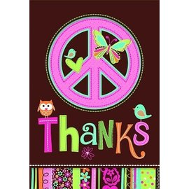 Thank You Cards-Hippie Chick-8pk (Discontinued)