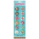 Buttons-Hippie Chick-12pk/1.75''