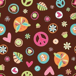 Gift Wrap-Hippy Chick-5ft x 30'' (Discontinued)