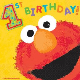 Luncheon Napkins-Elmo-36pk-2ply-Discontinued/Final Sale